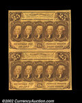 Fractional Currency:First Issue, Fr. 1281 25c First Issue Vertical Pair Extremely Fine. A ...