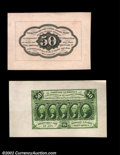 Fractional Currency:First Issue, Fr. 1313SP 50¢ First Issue Wide Margin Pair Choice About New....