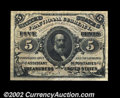 Fractional Currency:Third Issue, Fr. 1236 5c Third Issue About New. This is a beautifully ...