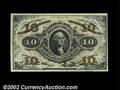 Fractional Currency:Third Issue, Fr. 1252 10c Third Issue Gem New. A spectacular piece, ...