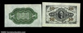 Fractional Currency:Third Issue, Fr. 1255SP 10¢ Third Issue Wide Margin Pair Gem New. Both ...
