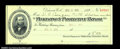Miscellaneous:Checks, Pinkerton's Protective Patrol Receipt dated Aug. 31, 1899...
