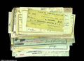 Miscellaneous:Checks, Fascinating and Valuable Group Lot of Checks. ...