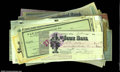 Miscellaneous:Checks, Large Group of Historical Checks. Approximately 107 ...