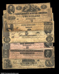 Confederate Notes:Group Lots, An Assortment of Confederates.