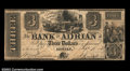 Obsoletes By State:Michigan, Adrian, MI- Bank of Adrian $3 Sept. 10, 1838 G6 Bowen 3