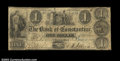 Obsoletes By State:Michigan, Constantine, MI- The Bank of Constantine $1 June 1, 1841 ...