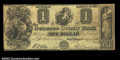 Obsoletes By State:Michigan, Flint River, MI- The Genesee County Bank $1 Jan. 1, 1838 ...