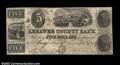 Obsoletes By State:Michigan, Palmyra, MI- The Lenawee County Bank $5 Dec. 22, 1837 G8 ...