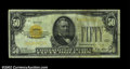 Small Size:Gold Certificates, Fr. 2404 $50 1928 Gold Certificate. Fine-Very Fine.There ...