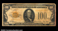 Small Size:Gold Certificates, Fr. 2405 $100 1928 Gold Certificate. Very Good.Very Fine ...