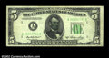 Error Notes:Skewed Reverse Printing, Fr. 1962-A $5 1950A Federal Reserve Note. Very Fine.The ...