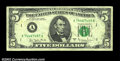 Error Notes:Skewed Reverse Printing, Fr. 1975-A $5 1977-A Federal Reserve Note. Fine-Very Fine....
