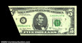 Error Notes:Foldovers, Fr. 1975-C $5 1977A Federal Reserve Note. Very Fine-...