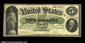 Large Size:Demand Notes, Fr. 2 $5 1861 Demand Note Very Fine. A solid and good-...