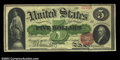 Large Size:Legal Tender Notes, Fr. 63a $5 1863 Legal Tender CGA Choice Uncirculated 63. A ...