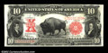Large Size:Legal Tender Notes, Fr. 122 $10 1901 Legal Tender Choice Extremely Fine. A ...