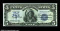 Large Size:Silver Certificates, Fr. 271 $5 1899 Silver Certificate Cut Sheet of Four Gem New....