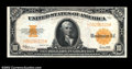 Large Size:Gold Certificates, Fr. 1173 $10 1922 Gold Certificate Choice About New. A ...