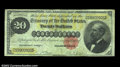 Large Size:Gold Certificates, Fr. 1178 $20 1882 Gold Certificate Very Fine. Beautifully ...