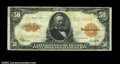 Large Size:Gold Certificates, Fr. 1200 $50 1922 Gold Certificate Fine-Very Fine. The ...