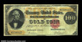 Large Size:Gold Certificates, Fr. 1213 $100 1882 Gold Certificate Fine. The lower right ...