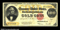 Large Size:Gold Certificates, Fr. 1215 $100 1922 Gold Certificate Choice Very Fine. A ...