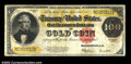 Large Size:Gold Certificates, Fr. 1215 $100 1922 Gold Certificate Fine-Very Fine. This ...