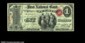 National Bank Notes:Colorado, Pueblo, Colorado Territory - $1 Original Fr. 382 The ...