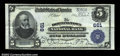 National Bank Notes:Pennsylvania, Downingtown, PA - $5 1902 Plain Back Fr. 598 The ...