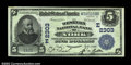 National Bank Notes:Pennsylvania, York, PA - $5 1902 Plain Back Fr. 606 The Western NB ...