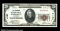 National Bank Notes:Wisconsin, Marinette, WI - $20 1929 Ty. 1 The Stephenson NB Ch. # ...