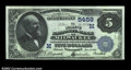 National Bank Notes:Wisconsin, Milwaukee, WI - $5 1882 Value Back Fr. 574 The Marine NB...