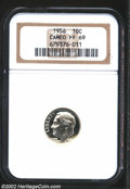 Proof Roosevelt Dimes: , 1956 10C PR 69 Cameo NGC. ...