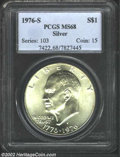 Eisenhower Dollars: , 1976-S $1 Silver MS68 PCGS. ...