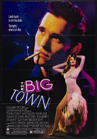 "The Big Town (Columbia, 1987). One Sheet (27"" X 41""). Drama. Starring Matt Dillon, Diane Lane and Tommy Lee Jo..."