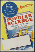 "Movie Posters:Short Subject, Popular Science Stock Poster (Paramount, 1941). One Sheet (27"" X41""). Short Subject. Paramount produced four shorts for Pop..."