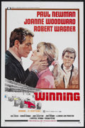"Movie Posters:Sports, Winning (Universal, 1969). One Sheet (27"" X 41""). Sports Drama.Directed by James Goldstone. Starring Paul Newman, Joanne Wo..."