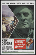 "Movie Posters:Western, Lonely Are the Brave (Universal, 1962). One Sheet (27"" X 41""). Western. Starring Kirk Douglas, Gena Rowlands, Walter Matthau..."