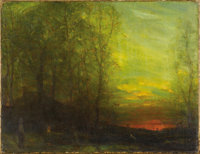 AMERICAN TONALIST SCHOOL Landscape, circa 1900-1920 Oil on panel 18-1/2 x 24-1/4 inches (46.9 x 61.5 cm) Unsigned &l...
