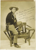 Autographs:Photos, 1938 Lou Gehrig Signed Photograph to Earle Combs' Sons. While the Iron Horse's silver screen turn as a Montana cowboy in th...