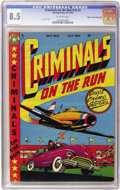 Golden Age (1938-1955):Crime, Criminals on the Run V5#2 Mile High pedigree (Curtis, 1949) CGC VF+ 8.5 Off-white pages....