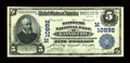 National Bank Notes:Missouri, Kansas City, MO - $5 1902 Plain Back Fr. 606 The Midwest NB Ch. #(M)10892. A lovely serial number 1 note from a rare ba...