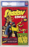 "Golden Age (1938-1955):Crime, Shadow Comics #10 (Street & Smith, 1941) CGC VF 8.0 White pages. We all know that ""the Shadow knows,"" but did you know t..."