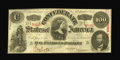 Confederate Notes:1863 Issues, T56 $100 1863. Cr-403, PF-1. A partial CSA treasury stamp is notedin the upper left corner adding to the appeal of this wh...