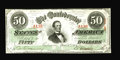 Confederate Notes:1863 Issues, T57 $50 1863. Cr-414, PF-8. Deep embossing of the serial numbersand series date is noted. Shull indicates there are only ab...