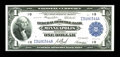 Fr. 734 $1 1918 Federal Reserve Bank Note Extremely Fine-About New. This embossed Minneapolis $1 has a couple of light f...