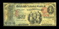 National Bank Notes:Maine, Waterville, ME - $1 1875 Fr. 383 The Merchants NB Ch. # 2306. Anextremely rare Maine bank which issued Series 1875 and ...