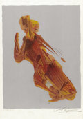 Fine Art - Painting, European:Contemporary   (1950 to present)  , DAVID ALFARO SIQUEIROS (Mexican 1896-1974). Dance (Torment).Lithograph in color. 22 x 15 inches (sheet size) (55.9 x 38...