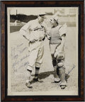 Autographs:Photos, Mid-1930's Dizzy Dean Signed Photograph. The appearance in thisfine vintage photo of catcher Bruce Ogrodowski allows us to...